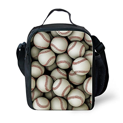 Coloranimal Cooler Lunch Box for Student 3D Baseball Lunch Holder (Kids Baseball Lunch Box)