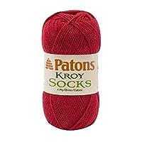 Spinrite Kroy Socks Yarn, Red