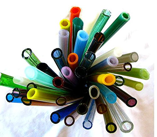 Devardi Glass Soft Glass Tubes, COE 104, Mixed Colors, 10 Tubes