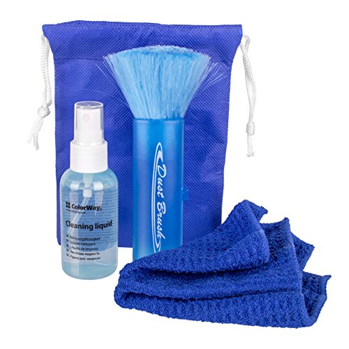 - CLWCW4130 - ColorWay Cleaner ColorWay set 3 in 1 Cleaning wipes, spray 2 fl oz (60 ml), brush (CW-4130)
