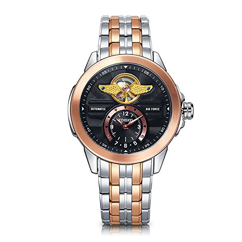 Time100 Men's Army-series Classic Business Skeleton Automatic Stainless Steel Watch #W60049G.01A