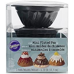 Wilton 2105-0088 Fluted Pan, Mini, Set of 3