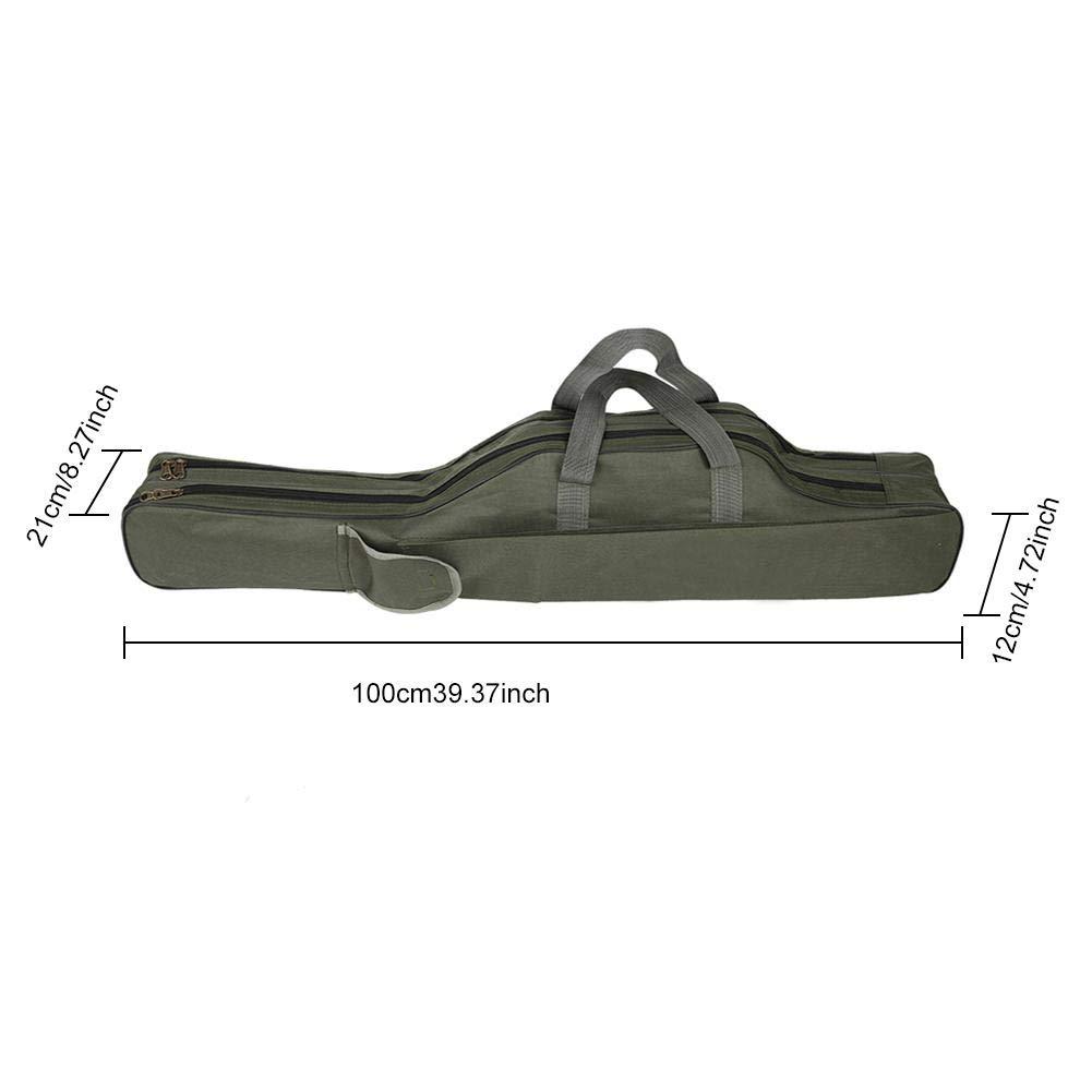 Jacksking Fishing Rod Bag Outdoor Fishing Rod Pole Reel Lures Box Tackle Storage Tool Bag Adjustable Shoulder Strap