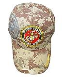 U.S. Warriors Licensed Marine Emblem Shadow Cap - Digital Camo