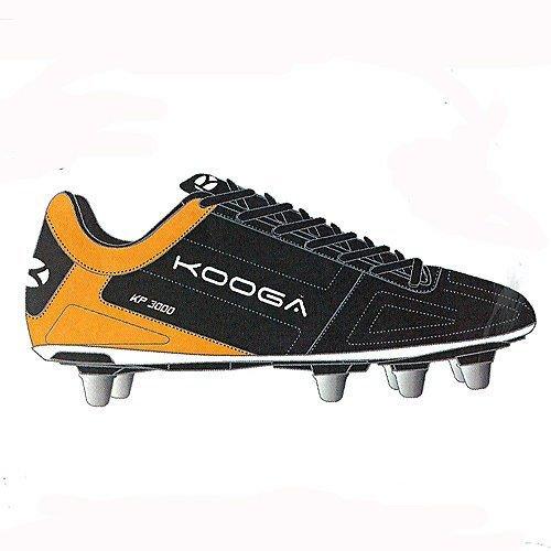 Kooga Kp 3000Junior Lcst botas de Rugby, negro/naranja, 38 EU negro/naranja