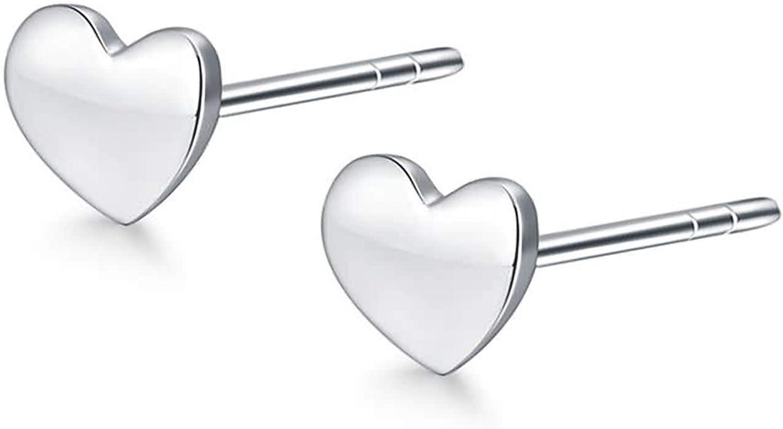 Beydodo Pendientes Mujer Platino Corazón Pendientes Plata