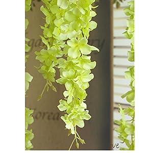30 Piece Artificial Flowers Silk Wisteria Garland-Dearhouse Artificial Wisteria Vine Ratta Silk Hanging Flower For Home Garden Outdoor Ceremony Wedding Arch Floral Decor 41