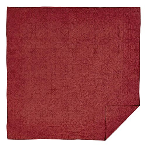 VHC Brands Cheyenne American Red Twin Quilt 86x68 Cheyenne Bedding