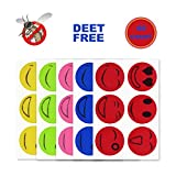 Mosquito Repellent Patches, Hip2cart 60 Counts Deet Free Summer Insect Patches Mosquito Stickers Smiling Face Drive Mosquito