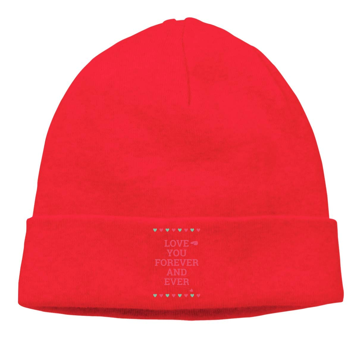 Adult Skull Cap Beanie Love You Forever Knitted Hat Headwear Winter Warm Hip-hop Hat
