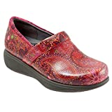 SoftWalk Women's Grey's Anatomy Meredith Sport Clog (9 B(M) US, Red Paisley)