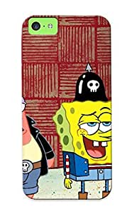 Anti-scratch And Shatterproof Download Free Patrick And Pongebob Ipad 2 Phone Case For Iphone 5c/ High Quality Tpu Case