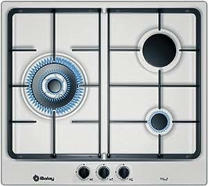 Balay 3ETX395BP hobs - Placa (Incorporado, Gas, Acero inoxidable, Giratorio, 1m, 8000W)