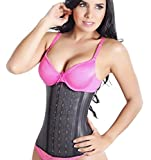 Lady Slim Colombian Latex Waist Cincher/Trainer/Trimmer/Corset Weight Loss Shaper Black V2 XL