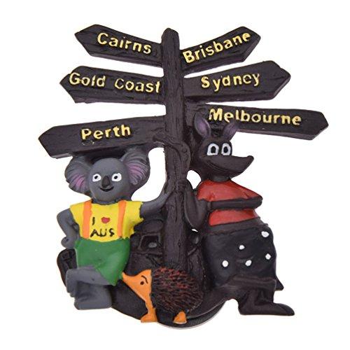 Sign Kangaroo Road (Towashine 3D Resin Cartoon Kangaroo Koala Australian Road Sign Fridge Magnet Travel Tourists Fridge Magnetic Souvenirs Gifts 1Pcs)
