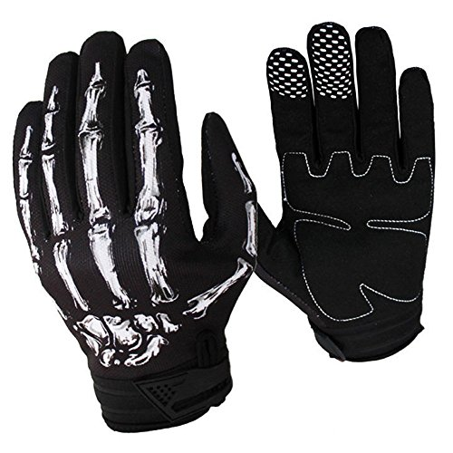 Cycling Bike Bicycle Motorcycle Shockproof Outdoor Sports Full Finger Sports Gloves(Black,XL)