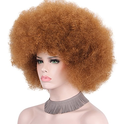 Anxin Afro Clown Wig for Adults Halloween Costumes