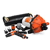 SEAFLO Washdown Deck Wash Pump KIT 12v 70 PSI 5.0 GPM 18.9 LPM for Caravan Rv Boat Marine Yacht -Fba
