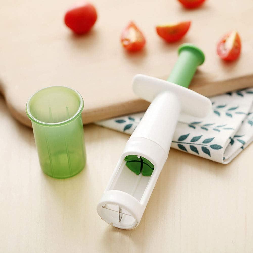 Delleu Virgo Grape Slicer Small Tomato Cut Potato cutter,Chops Vegetables Fruit Cutlery Creative Kitchen Gadget