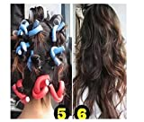 Homegifts Hairstyle Foam Curler Tool Spiral Hair Bendable Foam Curler Rollers 10pieces/pack -Twist Curls Flex Rods- Random Color