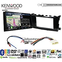 Volunteer Audio Kenwood Excelon DNX994S Double Din Radio Install Kit with GPS Navigation Apple CarPlay Android Auto Fits 2013-2015 Nissan Altima