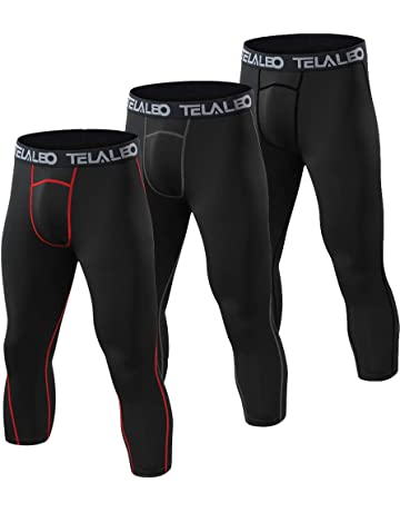 8bcb471796a5b7 TELALEO Men's Compression Pants Cool Quick Dry 3/4 Workout Running Leggings  Baselayer Sports Tights