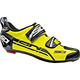 Sidi T-4 Air Carbon Triathlon Shoes (41, Yellow Fluo/Black)