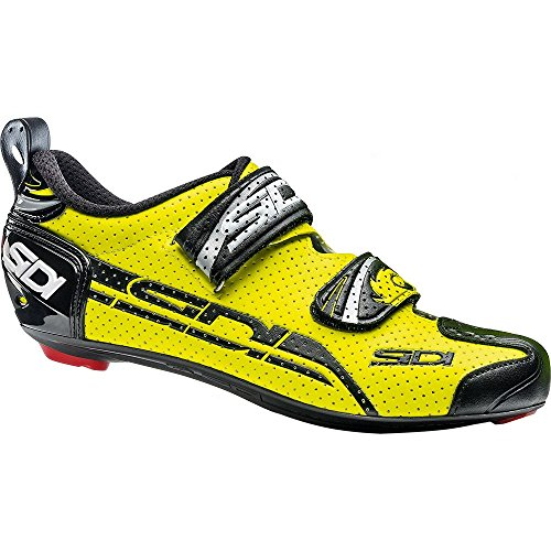 Sidi T-4 Air Carbon Triathlon Shoes (39.5, Yellow Fluo/Black)