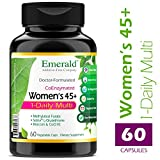 Women's 45+ 1-Daily Multi – Multivitamin with CoQ10, Vitamin K2 (MK-7) & Extra Calcium – Supports Healthy Heart, Strong Bones, Balanced Hormones, & More – Emerald Laboratories – 60 Vegetable Capsules