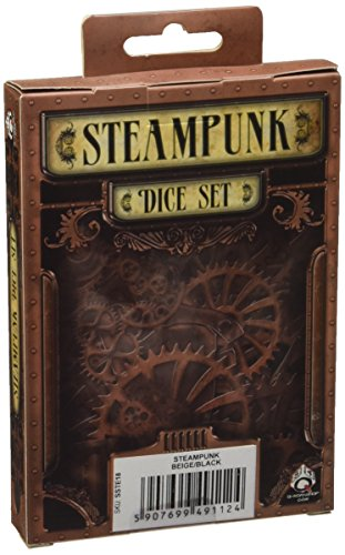 Steampunk Dice Beige/Black (7 Stk.) Board Game 4