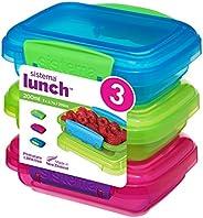 Sistema Lunch Collection Contenedores de almacenamiento de alimentos, azul, verde, rosa