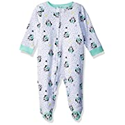 Disney Baby Girls Minnie Mouse Newborn Sleeper, Mint, 6/9 Months