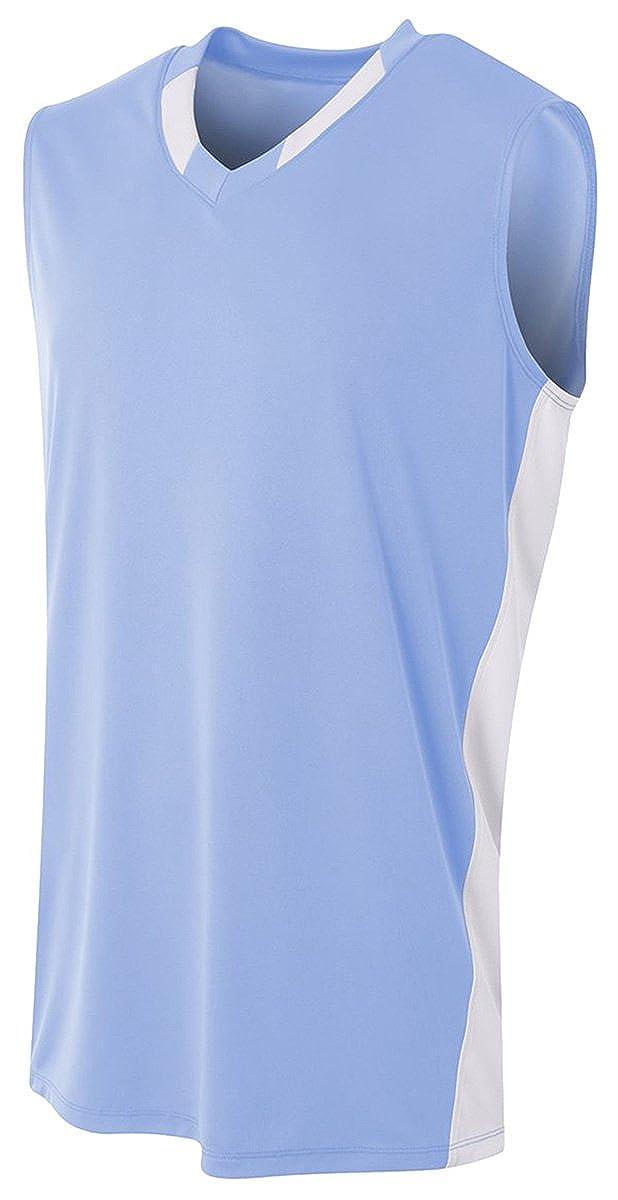 Medium LT Blue//White A4 Backcourt Jersey
