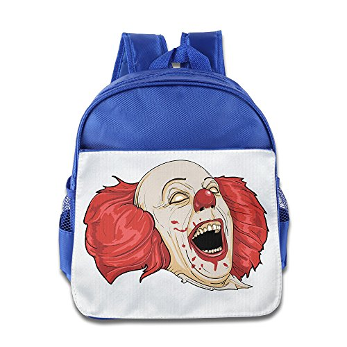 XJBD Custom Cool Clown Teenager Schoolbag For 1-6 Years Old RoyalBlue
