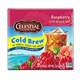 Celestial Seasonings Cold Brew Iced Tea, Raspberry, 40 Count (Pack of 6)