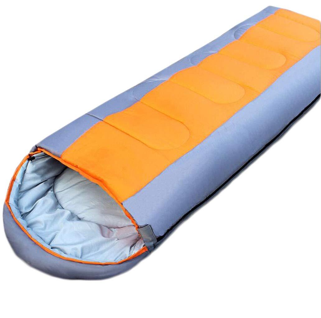 Orange  DAFREW Le Sac de Couchage d'enveloppe, Le Sac de Couchage en Hiver pour Le réchauffeHommest extérieur Peut être doublé d'un Sac de Couchage avec Un Sac de Compression (Couleur   Le Jaune)