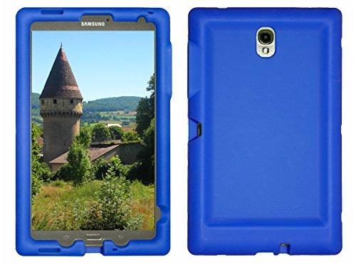 Bobj Rugged Case for Samsung Galaxy Tab S 8.4 Tablet Models SM-T700, SM-T705 - BobjGear Custom Fit - Patented Venting - Sound Amplification - BobjBounces Kid Friendly (Batfish Blue) (Bumper For Galaxy Tab S)