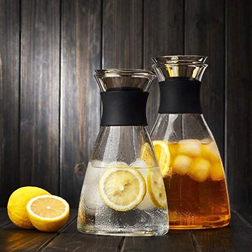 High Temperature Resistance ZS Glass Cold Water Bottle Home High Temperature Water Bottle Explosion Proof Glass Teapot Large Capacity Fruit Juice Cold Water Kettle (Capacity : 1250ml) by Carl Artbay (Image #4)