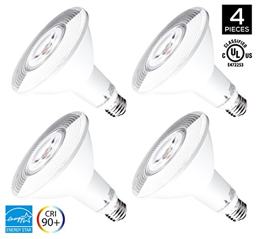 Hyperikon PAR38 LED Bulb Dimmable, 14W (100W Equivalent), 4000K (Daylight Glow), 1240 lumens, CRI 90+, Flood Light Bulb, Medium Base (E26), ENERGY STAR - Great for Backyard, Office, Kitchen (4 Pack) by Hyperikon