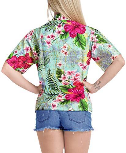 Playa Bolsillo Multicolor Las Corta Cuello Manga Abajo Ligero De x217 La Camisa Botón Mujeres Leela nqOWnAZwX