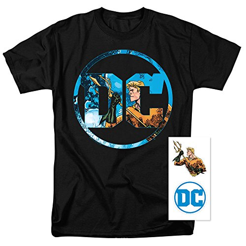 Aquaman DC Comics Logo T Shirt & Exclusive Stickers Only $9.99 (Was $24.99)