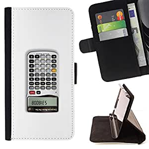 KingStore / Leather Etui en cuir / Samsung Galaxy S4 Mini i9190 / Calculator