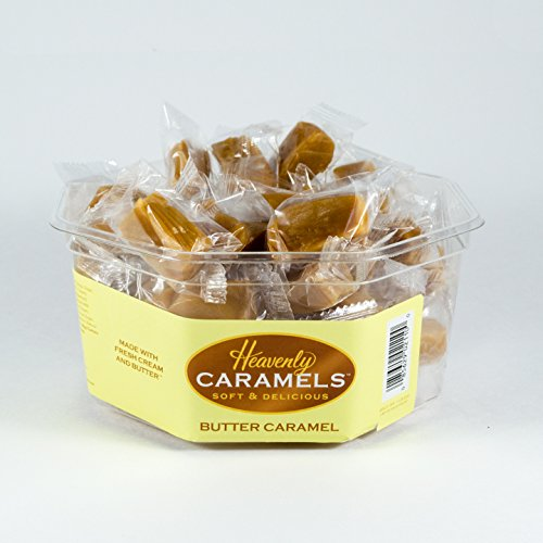 J Morgan Confections Heavenly Caramels, Butter Flavor (1 lb. 2 oz, 45 ct, Single-Pack); Gourmet, Artisan Soft and Chewy Butter Caramel Candies, Creamy and Smooth, Hand-Crafted Golden Treats