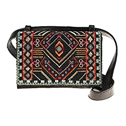 Convertible Beaded Crossbody Belt Bag
