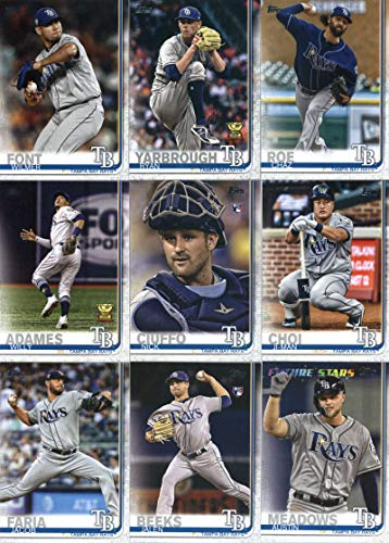 Bay Set Rays Tampa - 2019 Topps Series 2 Baseball Tampa Bay Rays Team Set of 12 Cards: Chaz Roe(#405), Kevin Kiermaier(#420), Ji-Man Choi(#423), Wilmer Font(#429), Ryan Yarbrough(#432), Nick Ciuffo(#457), Willy Adames(#562), Austin Meadows(#564), Tropicana Field(#566), Diego Castillo(#650), Jacob Faria(#656), Jalen Beeks(#688)