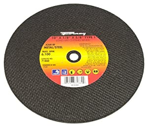 metal chop saw blade. forney 71860 chop saw blade with 5/8-inch arbor, metal type 1, a36r-bf, 10-inch-by-1/8-inch t