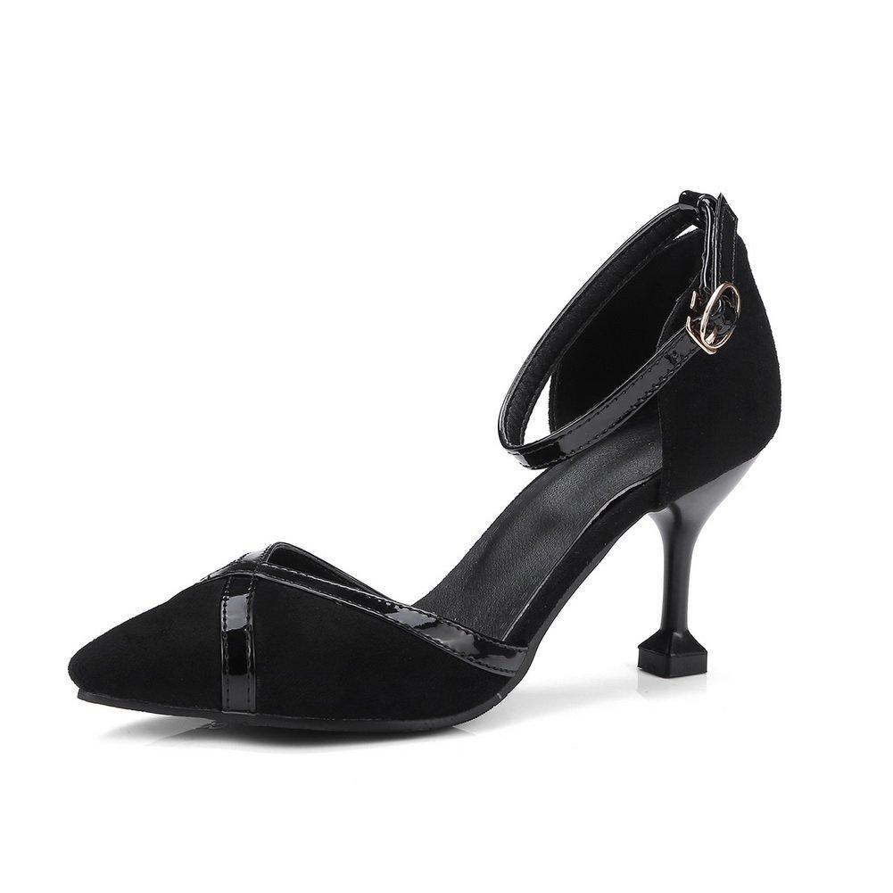 AdeeSu SLC04244 - Sandalias con cuña Mujer 36.5 EU|Negro