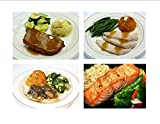 Healthy Chef Prepared Low Sodium Meals - 2 each Seared Salmon, American Meatloaf, Chicken Marsala and Roasted Turkey