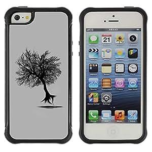 Planetar® ( Flying Tree ) Apple iPhone 5 / 5S Hybrid Heavy Duty Shockproof TPU Fundas Cover Cubre Case