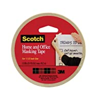 Scotch(R) Home and Office Masking Tape , 1-1/2-Inch x 55 Yards,Tan (3438)